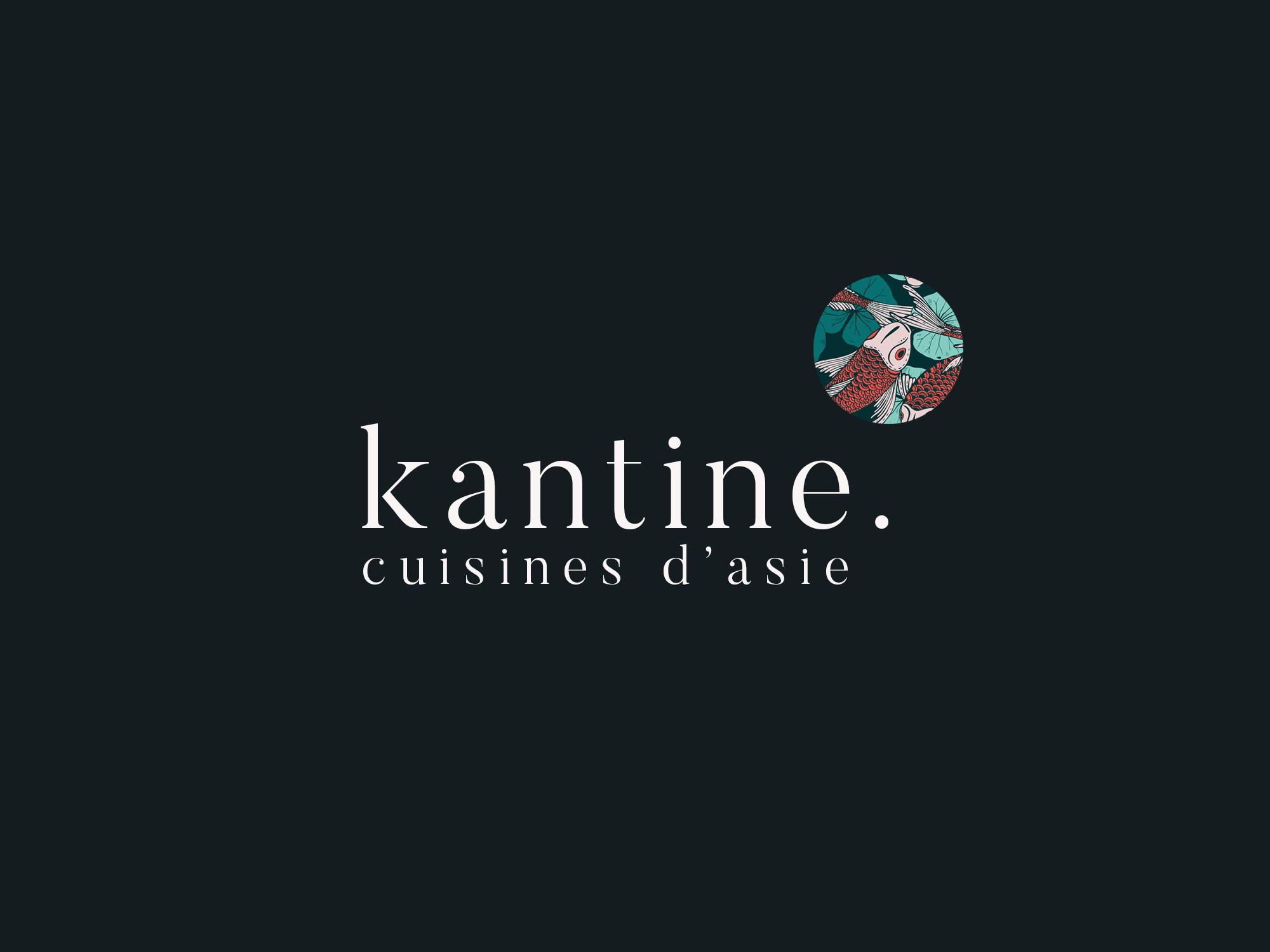 4 colors Kantine lyon logotype