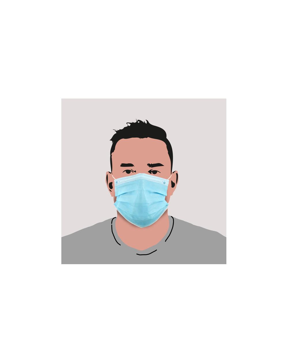 Masque jetable bleu pour adulte