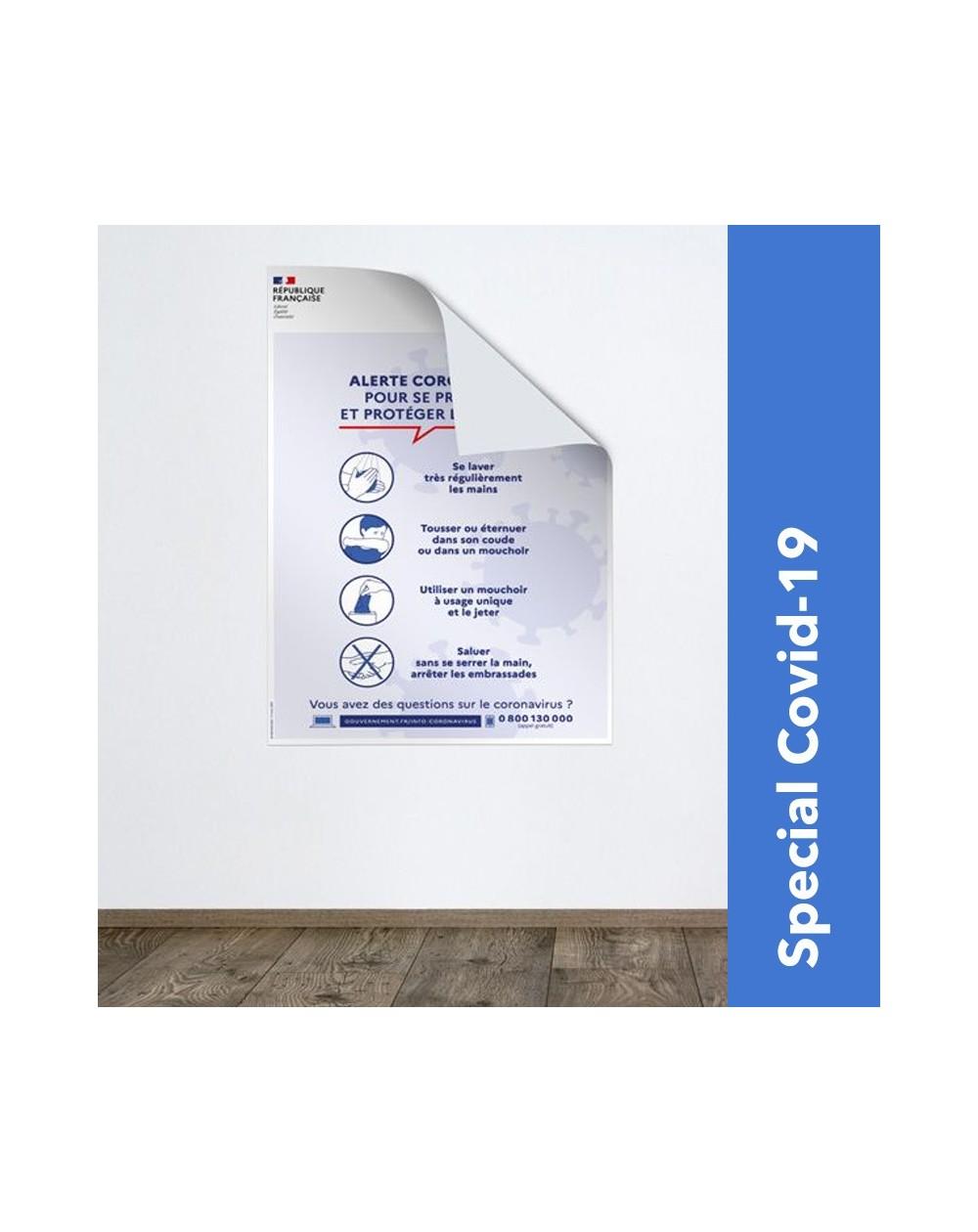 Impression affiche consignes de sécurité Covid-19