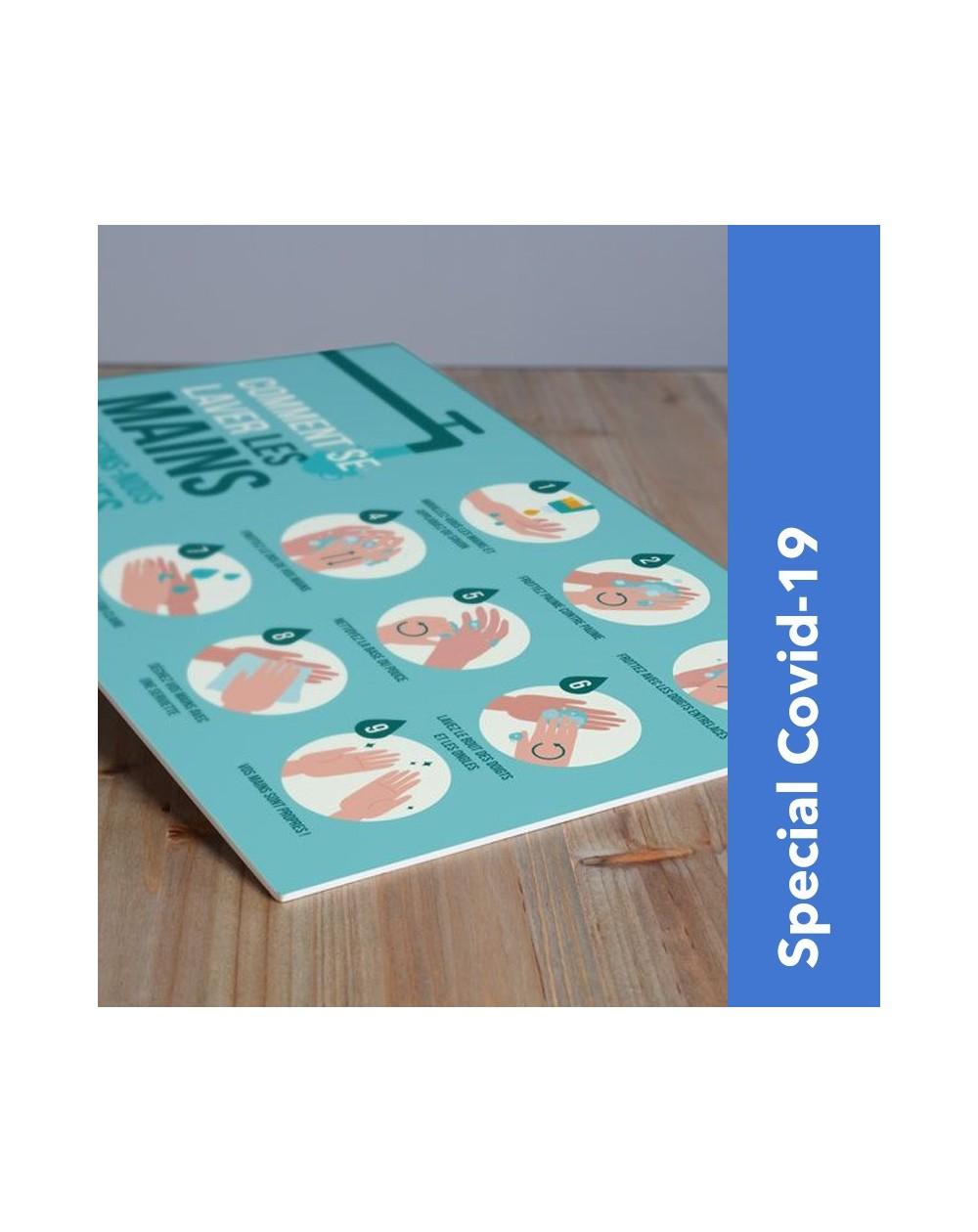 Panneau forex pré-imprimé consignes sanitaires Covid-19