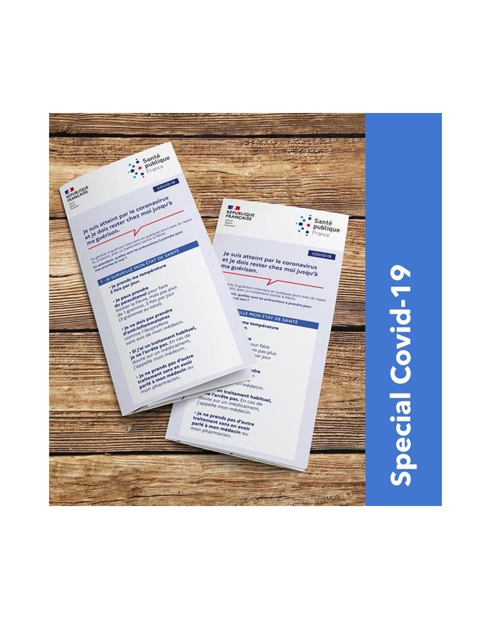 Dépliant pré-imprimé : Patients atteints du Covid-19