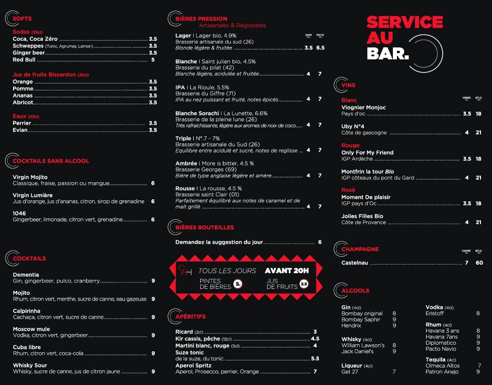 Carte bar lumiere 2019 4colors charte graphique web