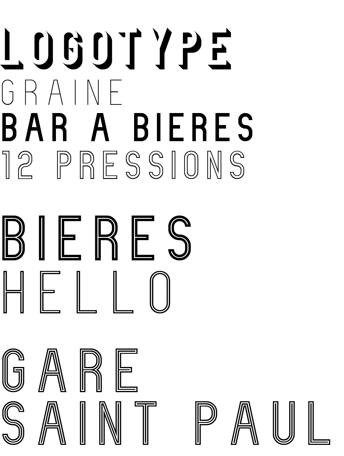 Choix typographie la migraine lyon 4colors
