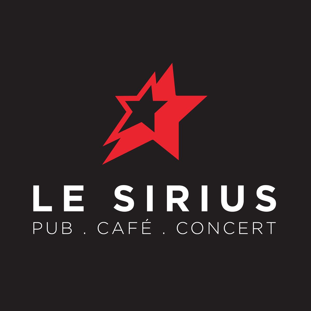 Creation logo refonte logo le Sirius Lyon fond noir 4colors