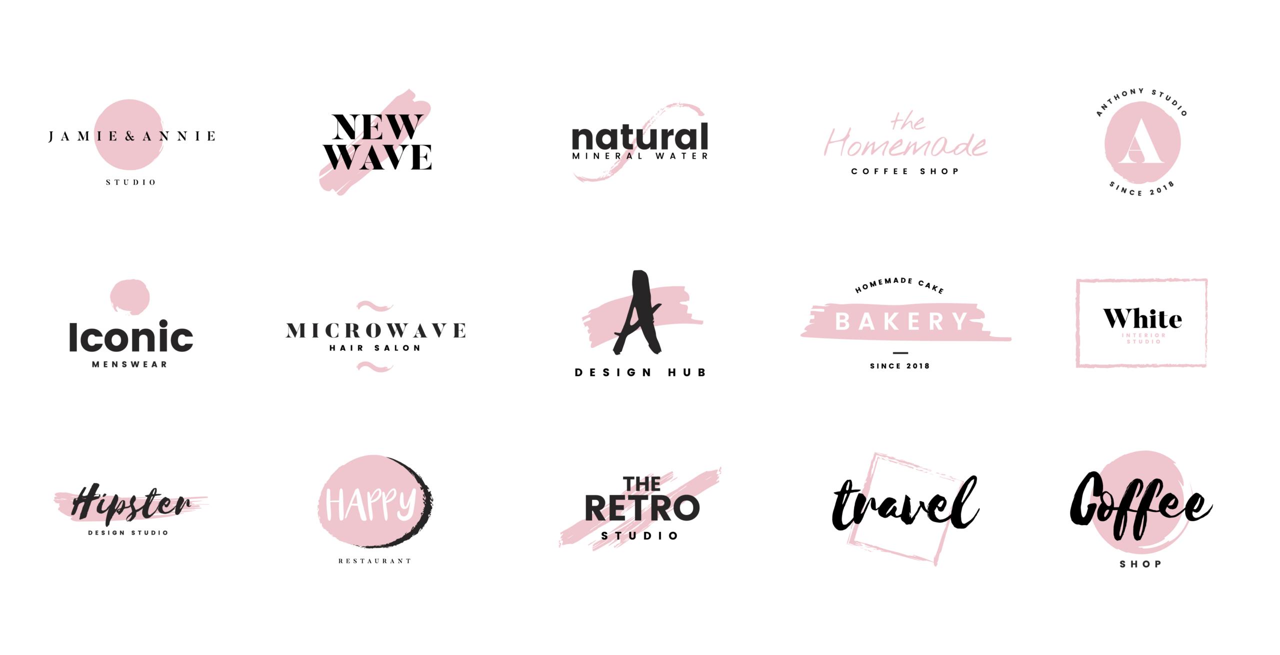 Planche création de logo 4 Colors