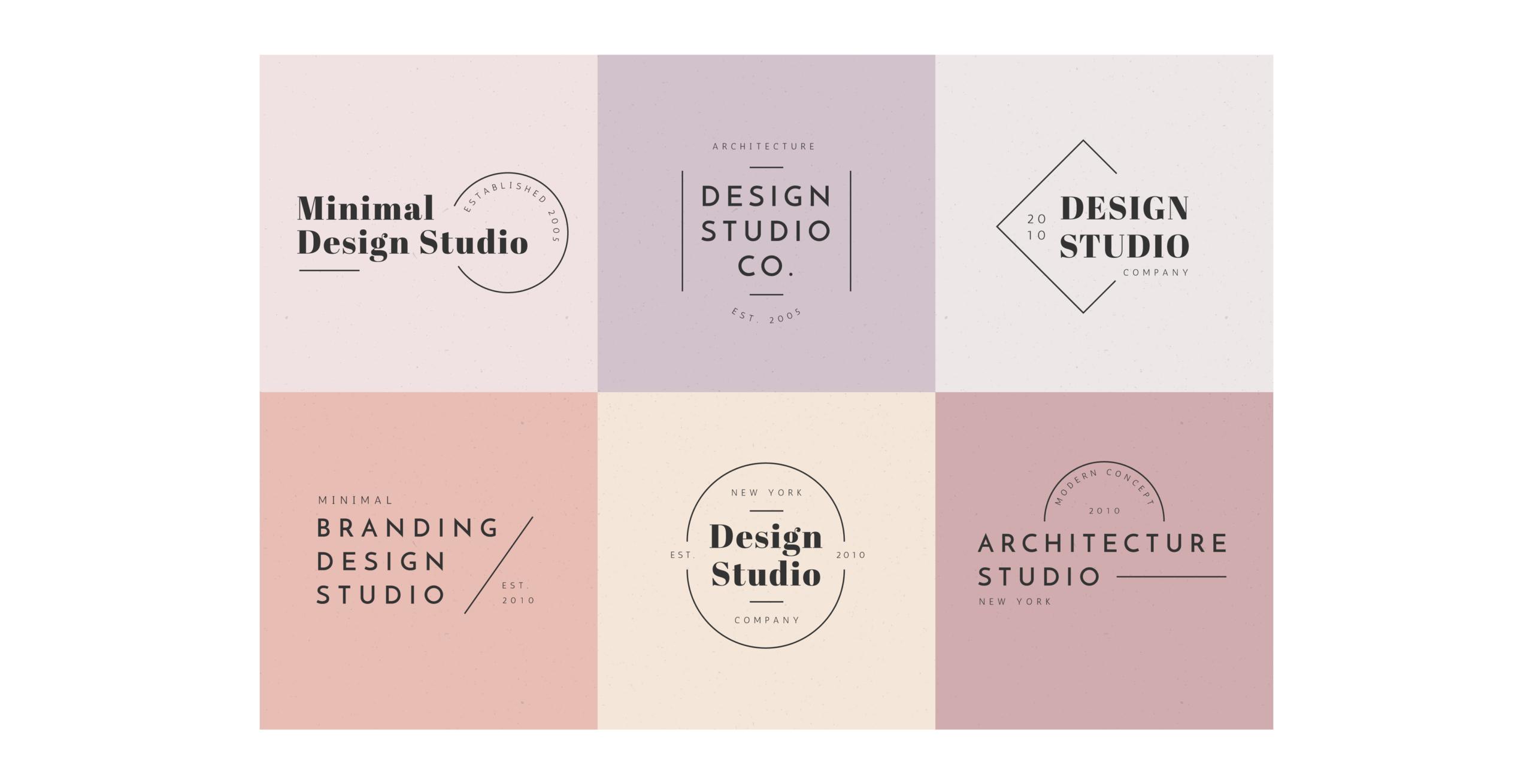 Planche de création de logo pour entreprise