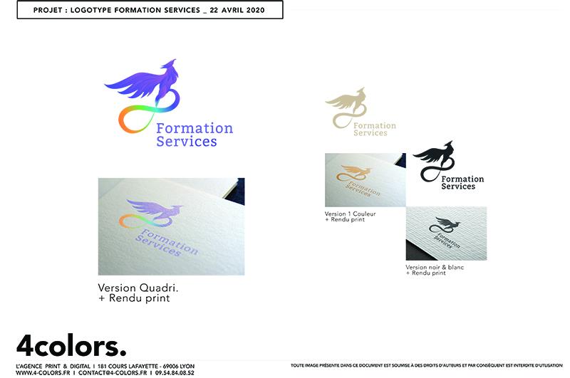 Maquette Création logo formation service multicolor
