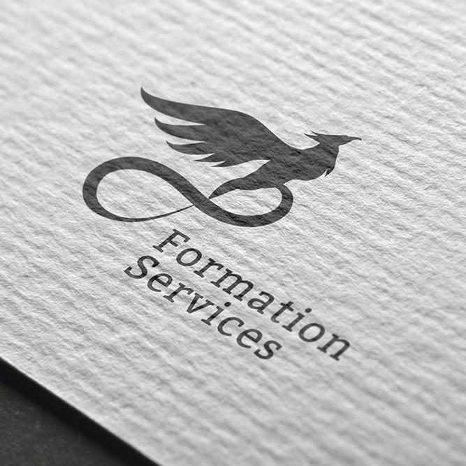 Création logo formation service noir