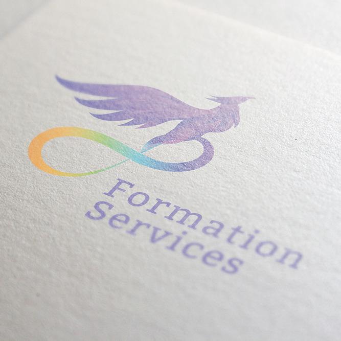 Création logo formation service multicolor