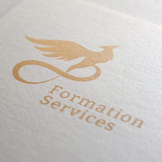 Création logo formation service couleur uni