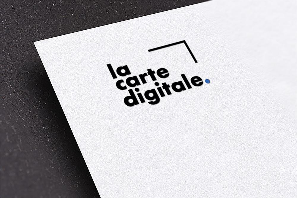 Création de logo pour La Carte digitale : le service de carte en ligne pour bars et restaurants à Lyon