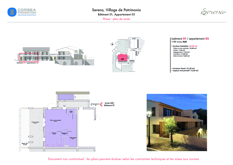 Création de plan immobilier pour Corsea Promotion