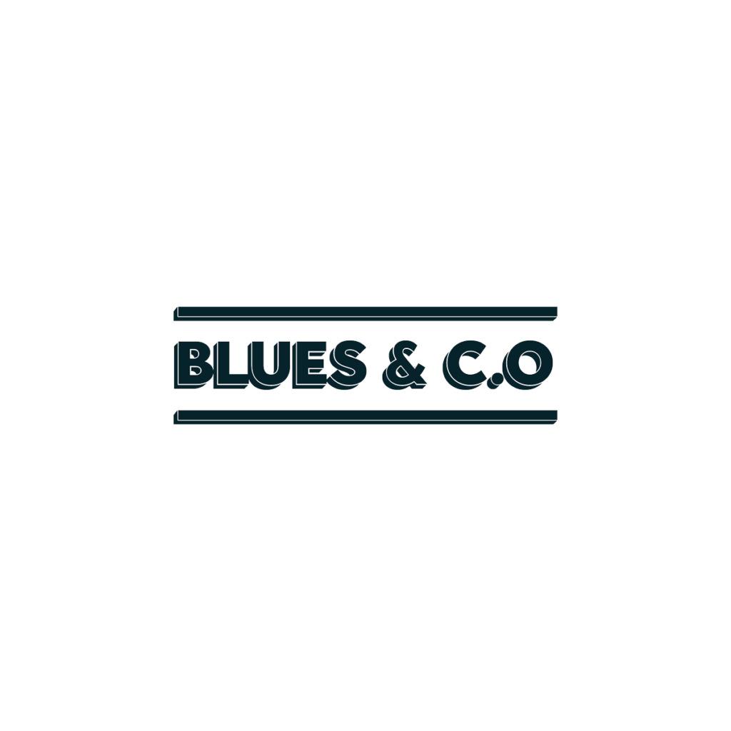 Création logo Blues & c.o bar Lyon, enseigne bistrot