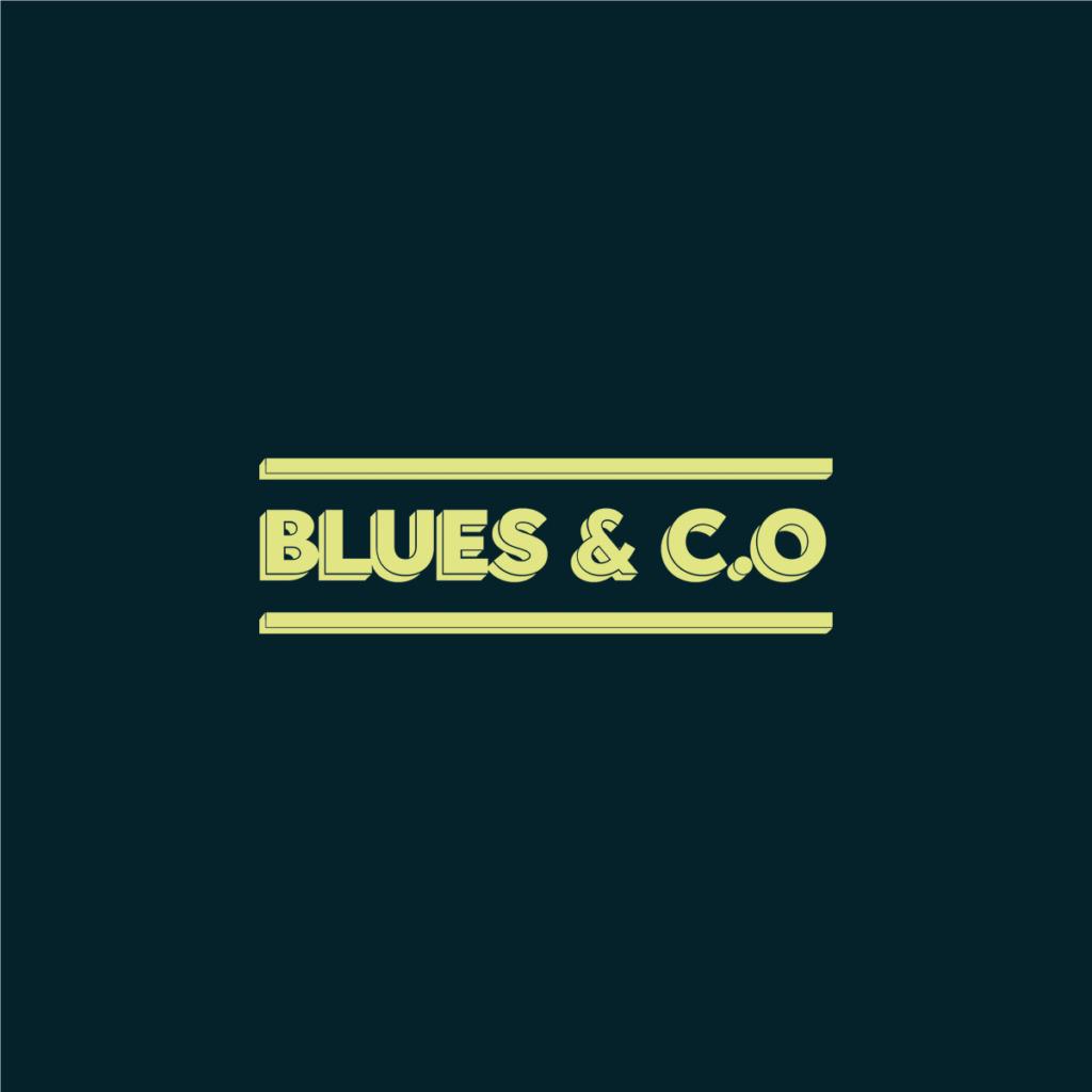 Création logo Blues & c.o bar Lyon, enseigne vintage