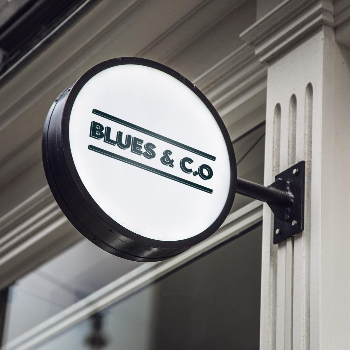 Création de logo pour Blues & c.o, nouveau bar à Lyon