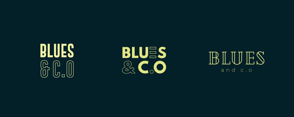 Création logo bar Lyon Blues & c.o, police moderne