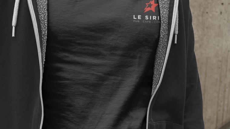 Marquage textile et création de t-shirts pour Le Sirius