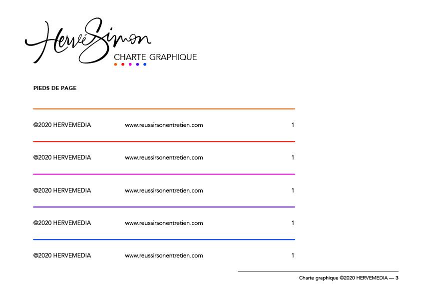 Création d'identité visuelle pour HERVEMEDIA, réalisée par 4-colors à Lyon