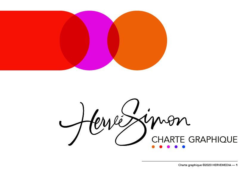 Palette de couleurs pour le coach professionnel HERVEMEDIA, réalisée par 4-colors à Lyon