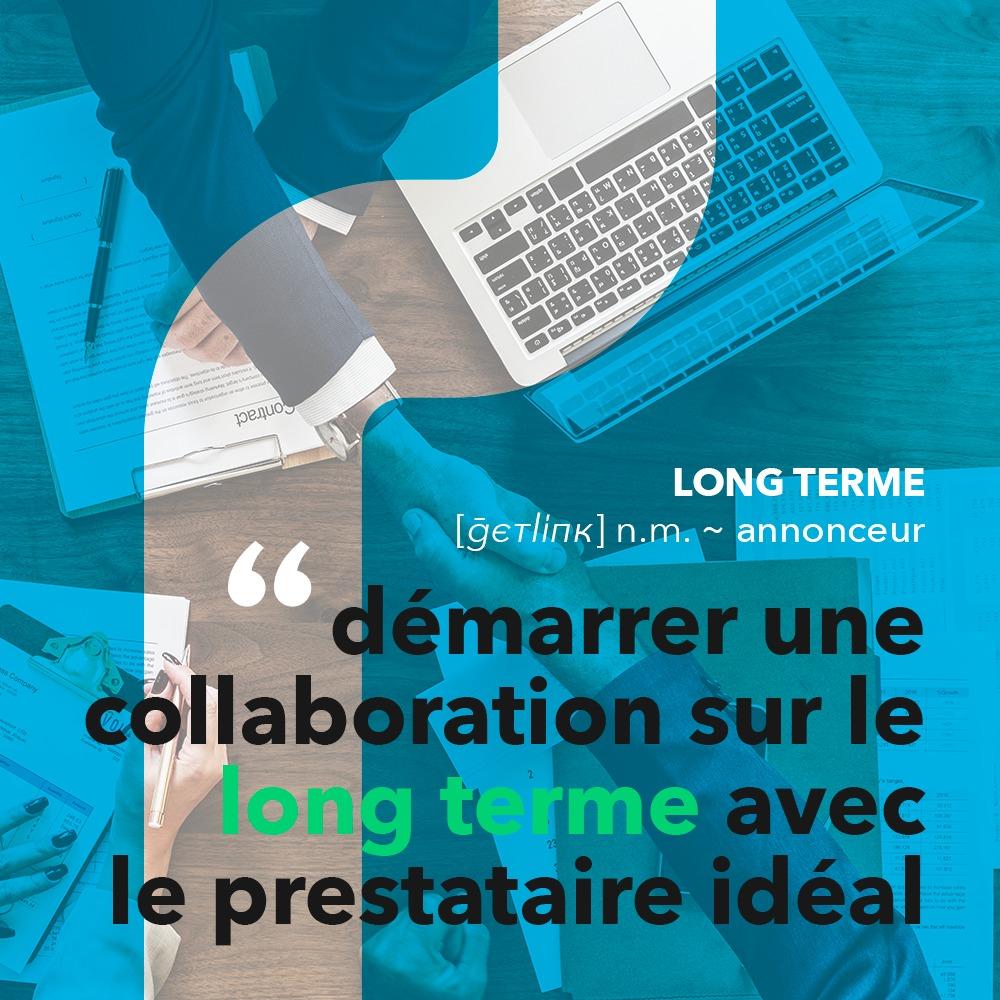 Publication ciblée pour Getlink Digital, réalisée par 4colors à Lyon