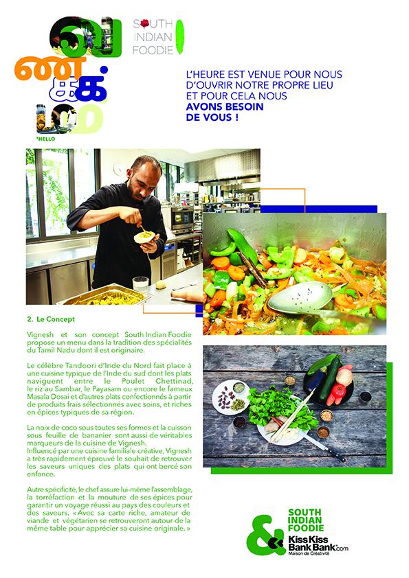 Création graphique communiqué de presse : South indian foodie Lyon