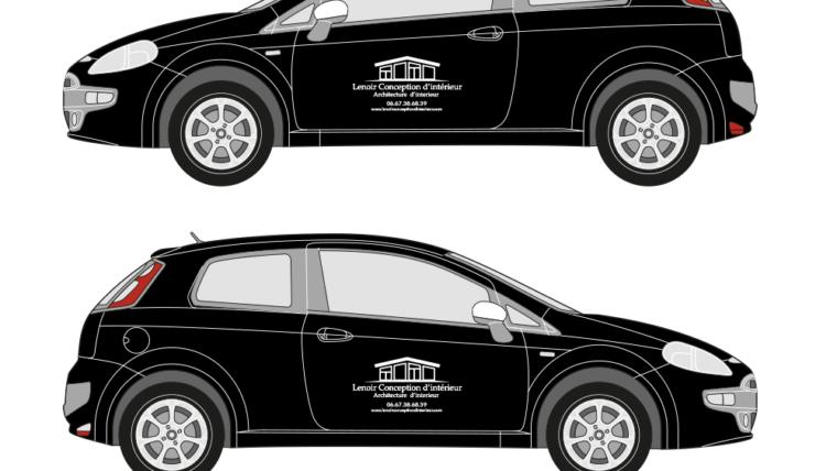 Marquage véhicule adhésif pour la société Lenoir Conception, Lyon