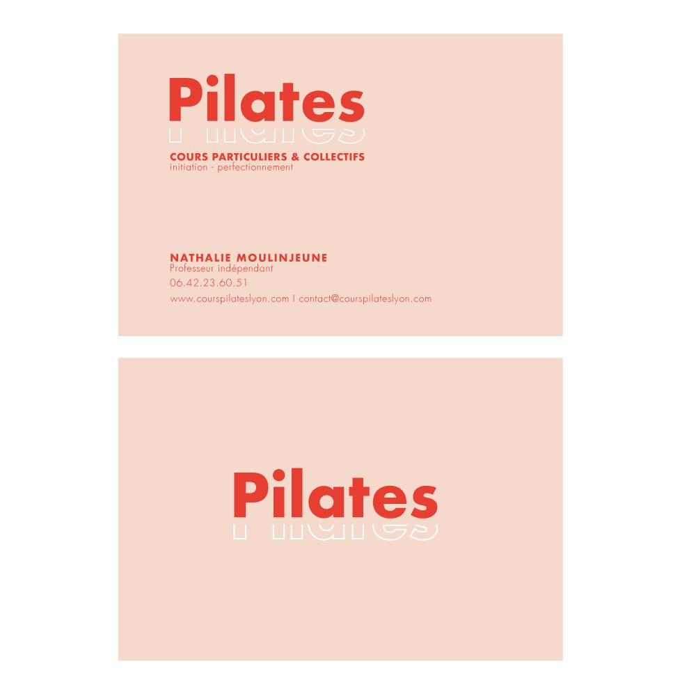 """Création cartes de visites """"Pilates"""" Lyon"""