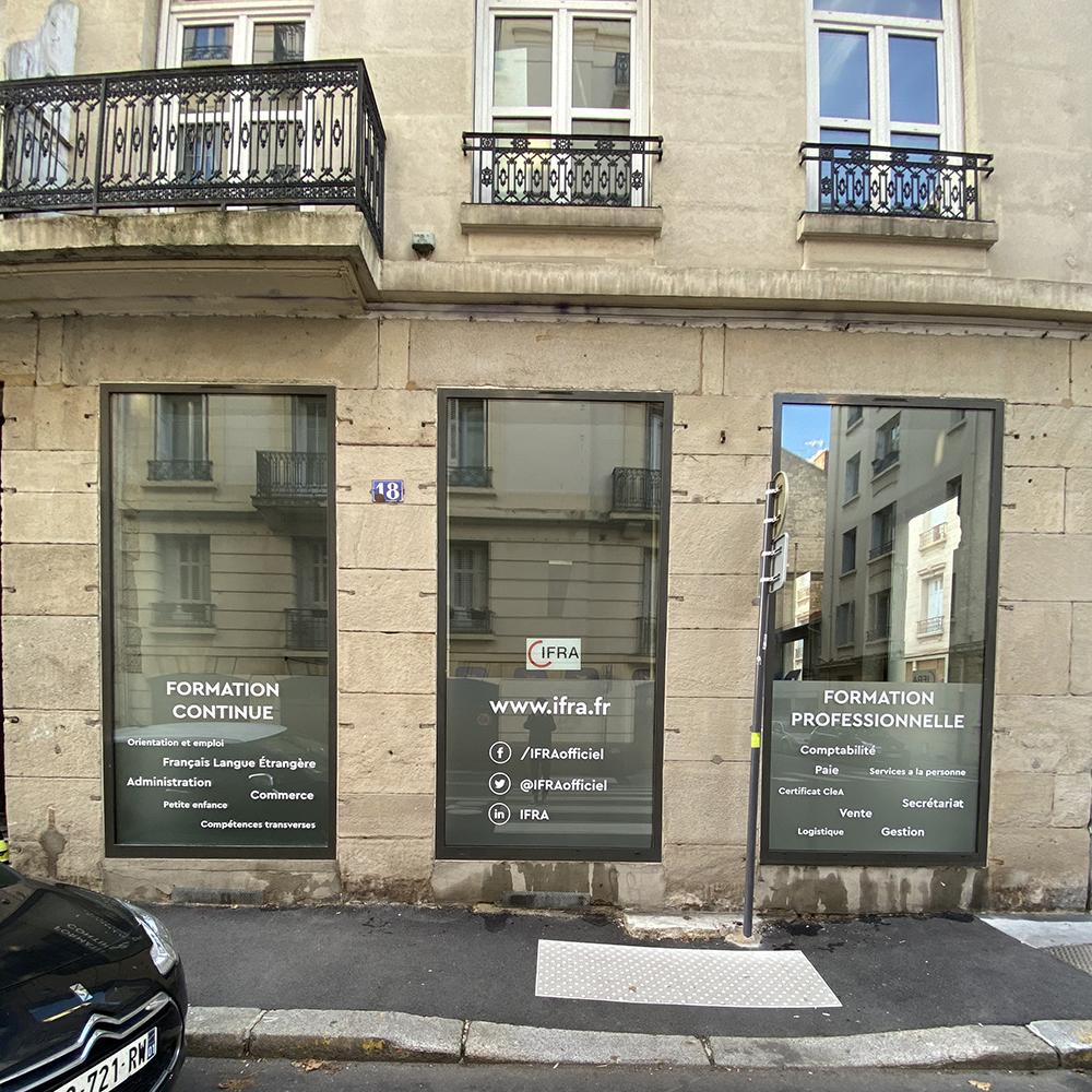 Vitrophanie Ifra Saint-Etienne Vue d'ensemble projet