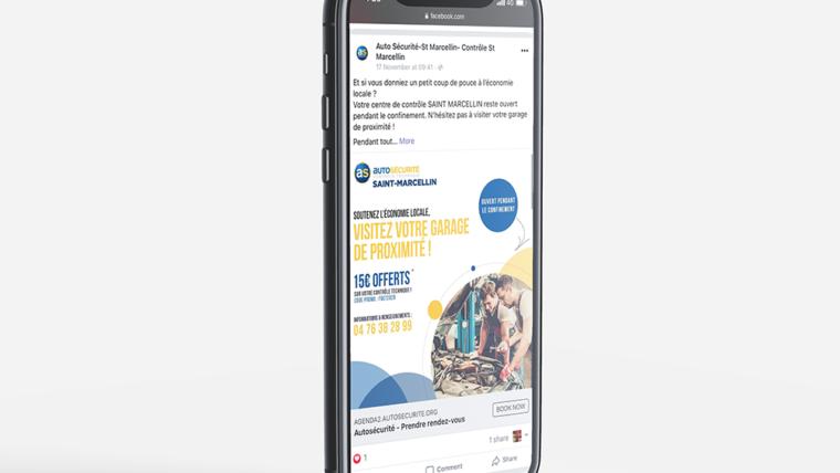 Campagne de communication Facebook pour Auto Sécurité Saint-Marcellin