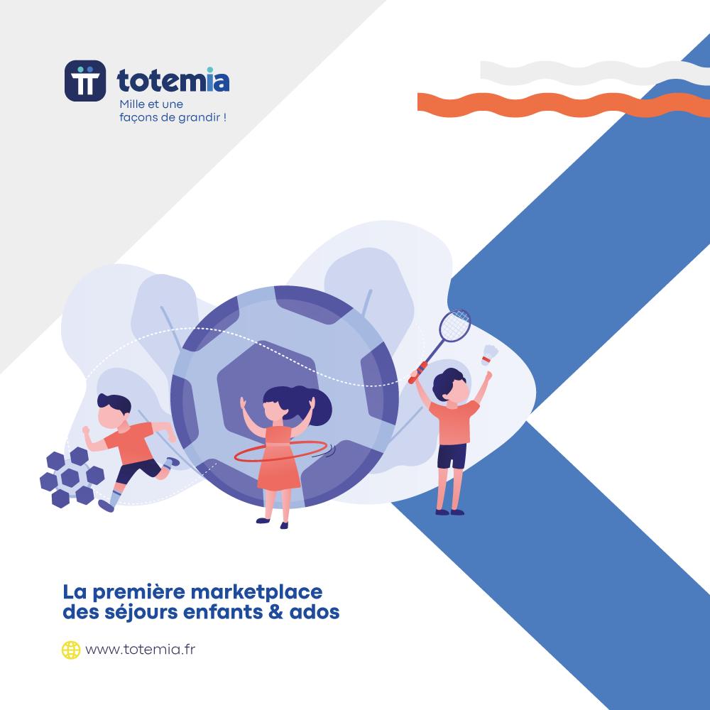 Création graphique de brochure corporate pour TOTEMIA
