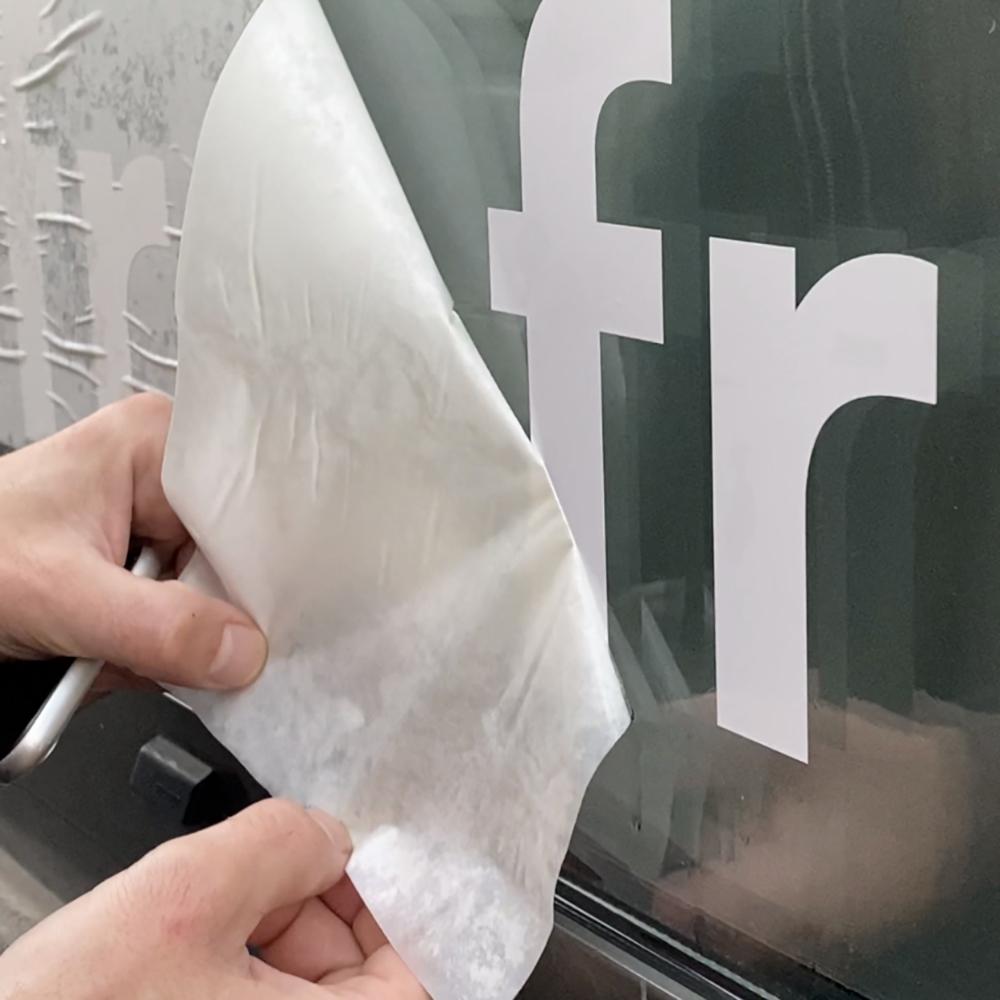 Vitrophanie IFRA Saint-Etienne  dépose du tape