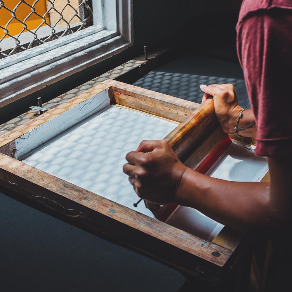 marquage textile planche peinture