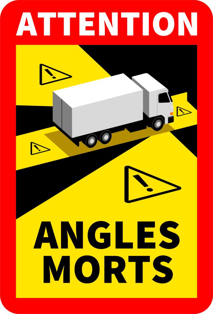 Angles morts poids lourds en milieu urbain: un affichage adhésif obligatoire sur les véhicules dès le 1er janvier 2021