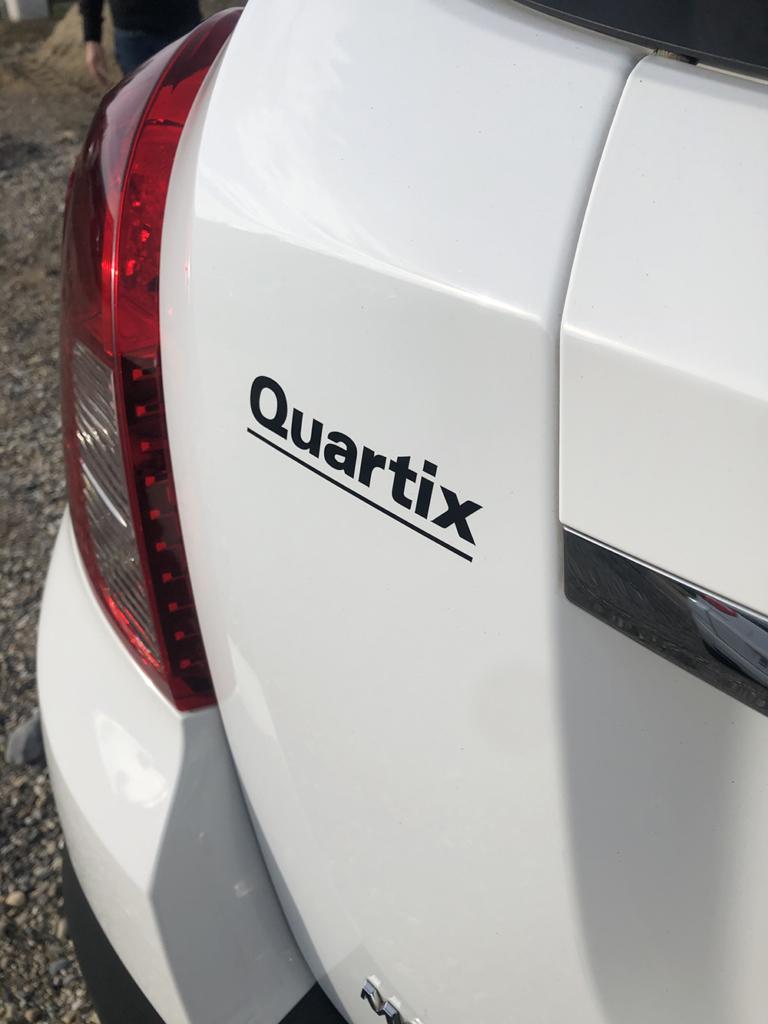Lettrage arrière stickers voiture covering vargos technologies