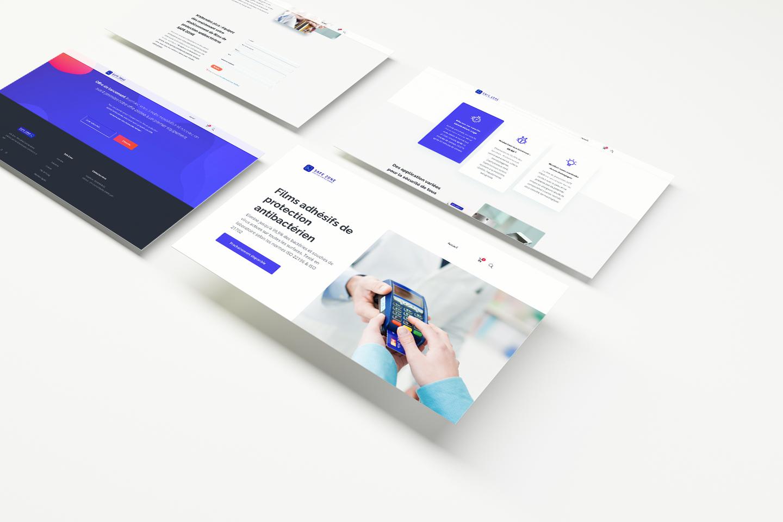 création site internet ui/ux design mockup 4Colors Lyon