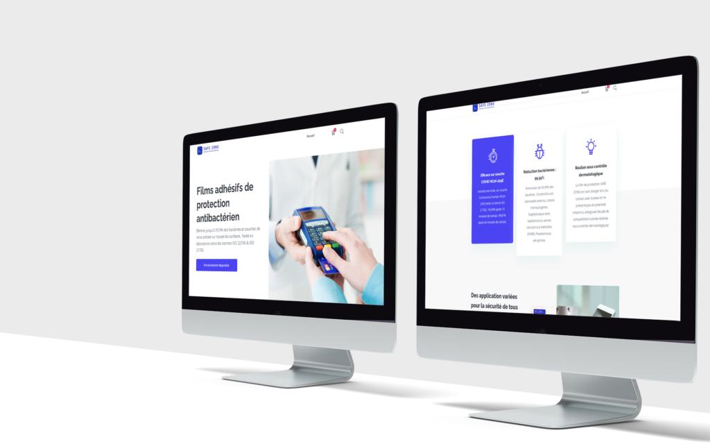 création du site internet Safe Zone lyon & ui/ux design