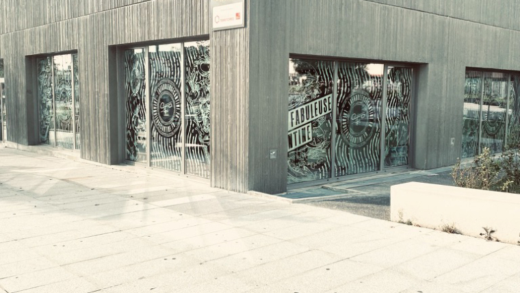 Vitrophanie vitrine restaurant lyon 8, Les Fabuleuses Cantines